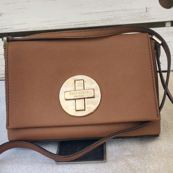 Kate Spade Newbury Ln Sally Tan Leather Crossbody